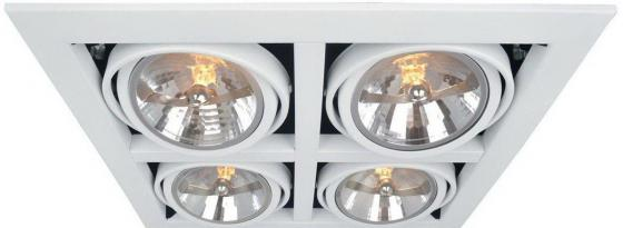 Встраиваемый светильник Arte Lamp Cardani A5935PL-4WH встраиваемый спот точечный светильник arte lamp cardani a5935pl 4bk