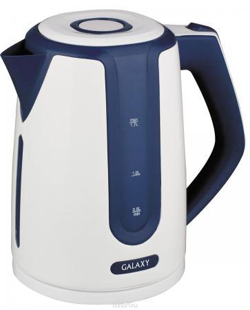 Чайник GALAXY GL0207 2200 Вт белый синий 1.7 л пластик