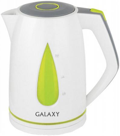 Чайник GALAXY GL0201 2200 Вт белый зелёный 1.7 л пластик цена и фото