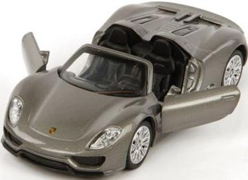 Автомобиль Пламенный мотор Porsche 918 Spyder 1:41 серый откр.двери neo 08 565