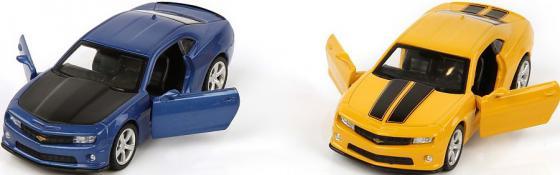 Машина мет.Пламенный мотор 1:43 Chevrolet Camaro, откр.двери, цвета в ассорт. цена