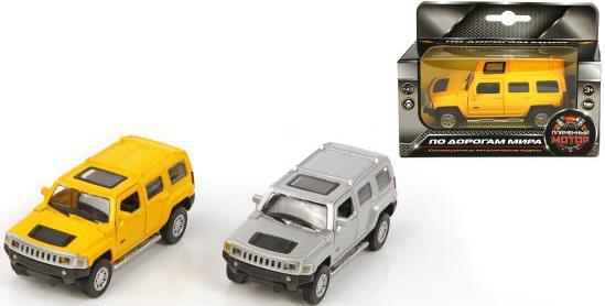 Машина мет.Пламенный мотор 1:43 Hummer H3, откр.двери, цвета в ассорт.