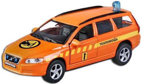 Машина Пламенный мотор 1:32 Volvo V70 Техпомощь 16 см оранжевый 87495 грузовик трейлер на радиоуправлении пламенный мотор mercedes benz actros 1 32 оранжевый