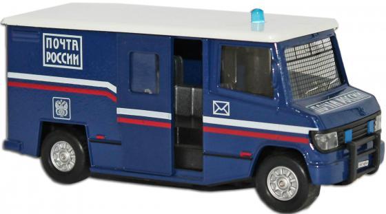 Машина Пламенный мотор 1:32 Почта 18 см синий  87434 пламенный мотор машина volvo аварийная служба горгаз 1 32 со светом и звуком пламенный мотор