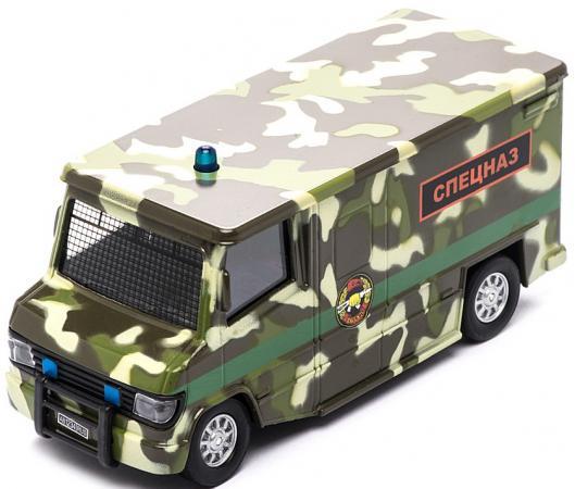 Спецслужбы Пламенный мотор 1:32 Фургон Спецназ 18 см камуфляж 87505