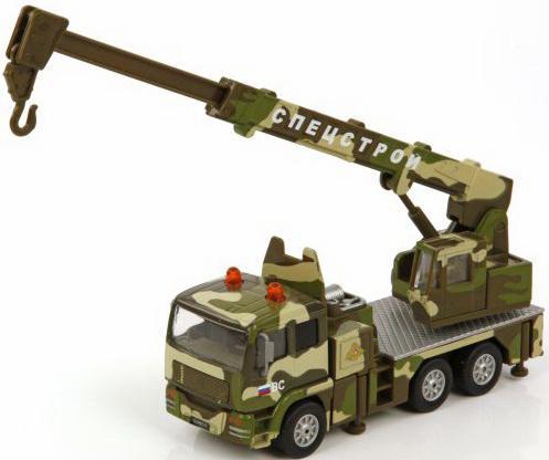 Кран Пламенный мотор 1:32 Военный кран 21 см камуфляж 870093 пламенный мотор машинка инерционная volvo пожарная охрана