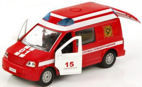 Машина Пламенный мотор 1:32 Служба пожаротушения 17 см красный 3315386