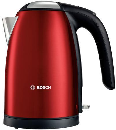 Чайник Bosch TWK7804 2200 Вт красный 1.7 л нержавеющая сталь bosch чайник bosch twk6801 серебристый 1 7л 2400вт нержавеющая сталь