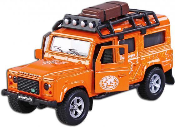 Автомобиль Пламенный мотор Landrover Defender Экспедиция 1:32 оранжевый свет, звук, откр.двери  87511 машина пламенный мотор landrover defender пламя 87509