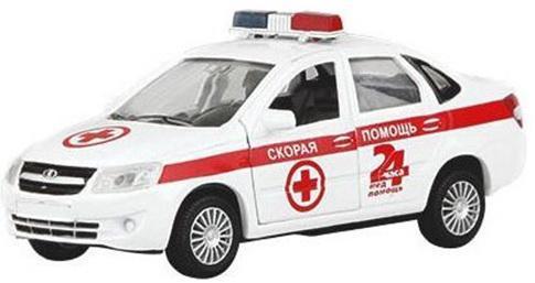Скорая помощь Autotime LADA GRANTA 14 см бело-красный Р40517 autotime модель автомобиля uaz 39625 омон