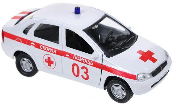 Скорая помощь Autotime Лада Калина 14.5 см бело-красный Р40517 машинки autotime машина uaz 31514 ваи