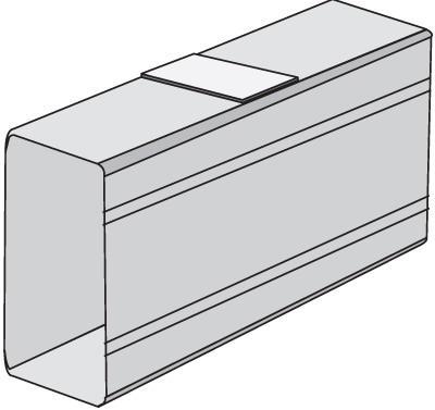Накладка DKC 00833 белый лоток dkc fc5005 50х50 50мм2 l3000 проволочный металл