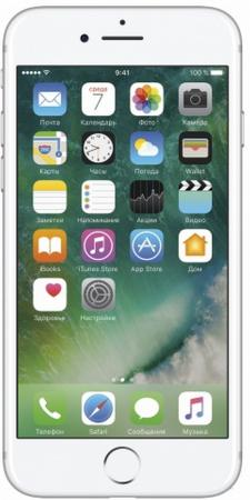 "Смартфон Apple iPhone 7 серебристый 4.7"" 32 Гб NFC LTE Wi-Fi GPS 3G MN8Y2RU/A"