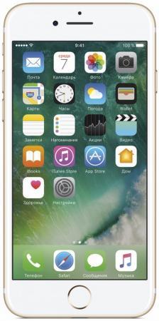 Смартфон Apple iPhone 7 золотистый 4.7 128 Гб NFC LTE Wi-Fi GPS 3G MN942RU/A смартфон apple iphone xs max серебристый 6 5 256 гб nfc lte wi fi gps 3g mt542ru a