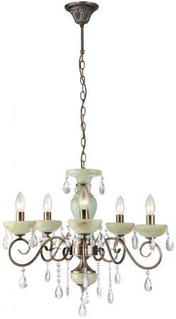 Подвесная люстра Arte Lamp Onyx Green A9592LM-5AB