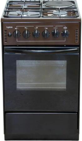 Комбинированная плита Лысьва ЭГ 1/3г01-2у коричневый цена