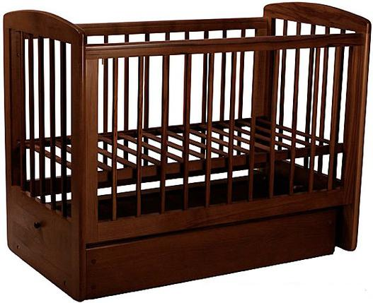 Кроватка с маятником Лель Ромашка АБ16.2 (темный орех 35) обычная кроватка ведрусс лана 2 темный орех