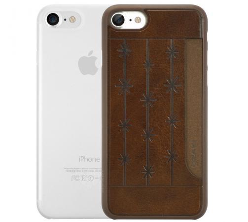 Набор чехлов Ozaki Jelly и Ozaki Pocket для iPhone 7 прозрачный коричневый OC722BC ozaki oc112pr