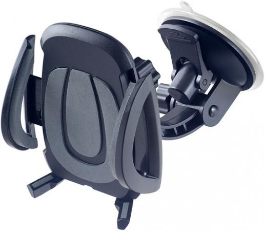 Автомобильный держатель Perfeo PH-520 до 6.5 на стекло черный серый автомобильный держатель perfeo ph 524