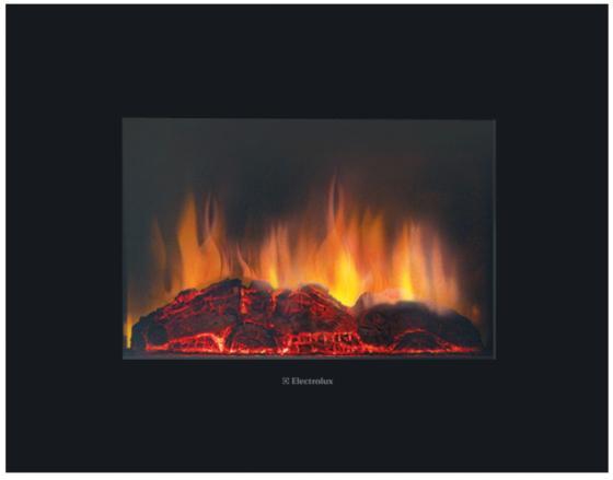 Электрокамин Electrolux EFP/W-1100ULS 1800 Вт чёрный цена и фото