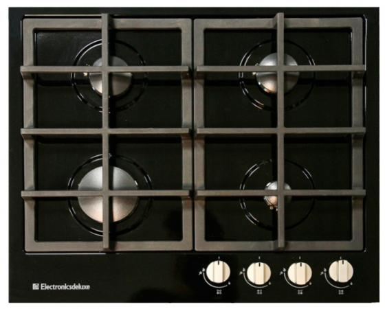 Варочная панель газовая Electronicsdeluxe TG4 750231F-040 черный варочная панель газовая electronicsdeluxe gg51130245ftc 005
