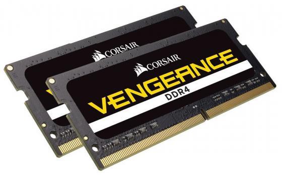 Оперативная память для ноутбука 32Gb (2x16Gb) PC4-21300 2666MHz DDR4 SO-DIMM Corsair CMSX32GX4M2A2666C18 оперативная память 4gb pc4 21300 2666mhz ddr4 dimm corsair cmv4gx4m1a2666c18