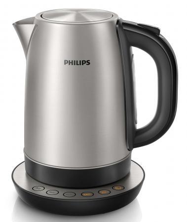 Чайник Philips HD9326/20 2200 Вт серебристый 1.7 л металл шуба из меха норки с отделкой натуральной замшей