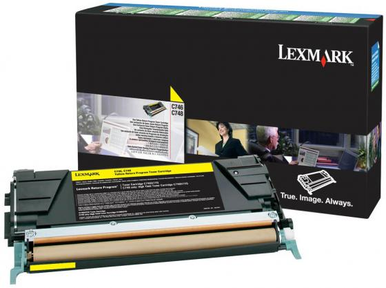 Картридж Lexmark C746A3YG для C74x желтый картридж lexmark c792x1yg для c79x желтый
