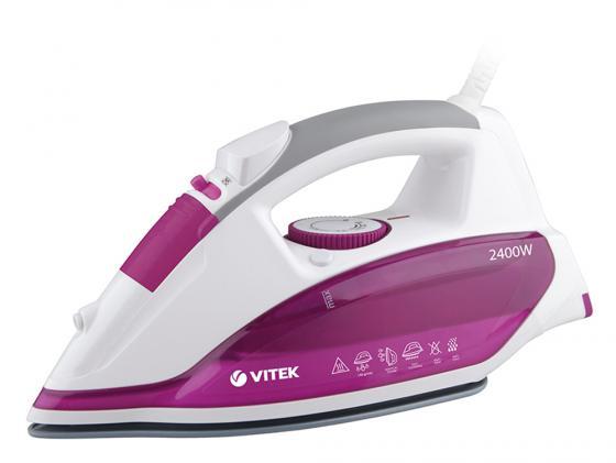 Утюг Vitek VT-1262 PK 2400Вт розовый белый VT-1262(PK) утюг vitek vt 1262 pk 2400вт розовый белый vt 1262 pk