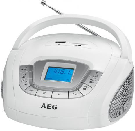 Магнитола AEG SR 4373 weiss штроборез aeg mfe 1500