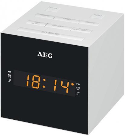 Часы с радиоприёмником AEG MRC 4150 белый штроборез aeg mfe 1500