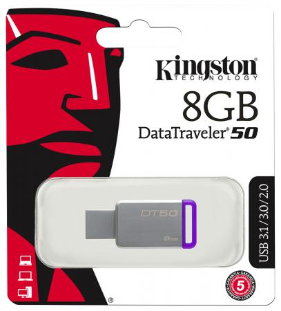 Флешка USB 8Gb Kingston DataTraveler DT50/8GB lego lego star wars 75092 истребитель набу™ naboo starfighter™