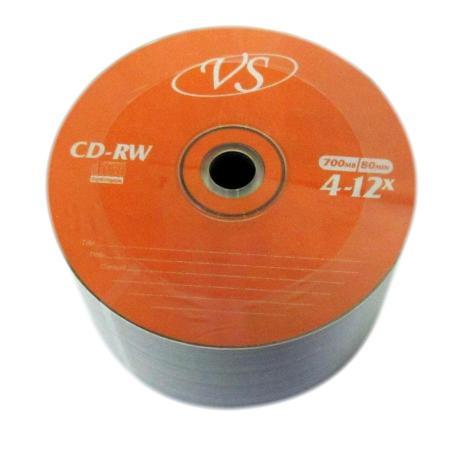 Диски VS CD-RW 700Mb 12x Bulk/50 vs bulk