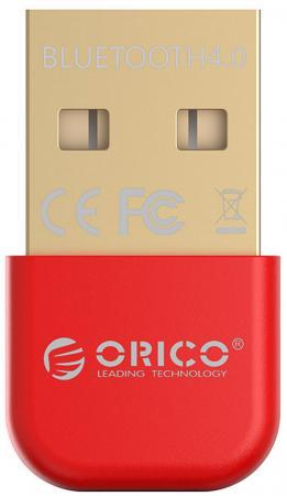 Беспроводной Bluetooth адаптер Orico BTA-403-RD USB красный orico bta 403 bk mini csr8510a10 chipset bluetooth v4 0 usb 2 0 receiver black