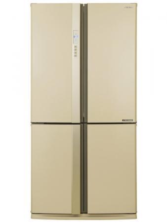 Холодильник Side by Side Sharp SJ-EX98FBE бежевый холодильник sharp sjxp59pgsl