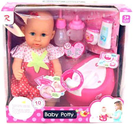 Пупс Shantou Gepai Baby Potty в красном платье 40 см писающая пьющая 8930 пупс shantou gepai ld9811a 40 см со звуком писающая пьющая ld9811a