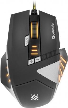 Мышь проводная DEFENDER Warhead GM-1760 чёрный USB 52760 defender warhead gm 1750 black usb