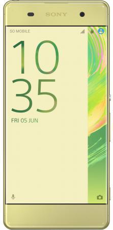 Смартфон SONY Xperia XA Dual лайм золотистый 5 16 Гб NFC LTE Wi-Fi GPS 3G F3112 смартфон bq aquaris x5 plus белый розовый 5 16 гб nfc lte wi fi gps 3g c000208
