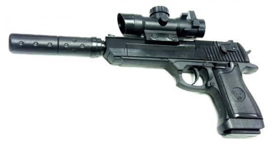 Пистолет Shantou Gepai ES882-F128A+ черный пистолет shantou gepai desert eagle серый прицел гелевые пули usb зарядка 635448