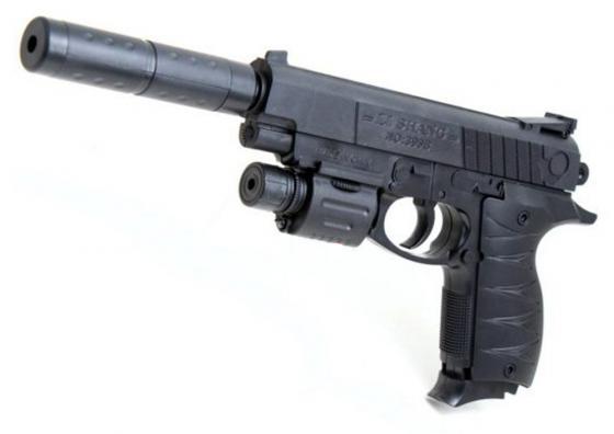Пистолет Shantou Gepai ES869-399B-3 черный пистолет shantou gepai desert eagle серый прицел гелевые пули usb зарядка 635448