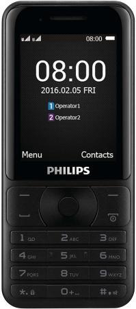 """Мобильный телефон Philips Xenium E181 черный 2.4"""" 32 Мб мобильный телефон philips e116 черный"""