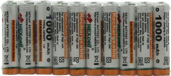 Аккумуляторы 1000 мАч Nexcell AAA-1000-10 AAA 10 шт 1000