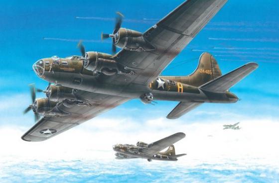 Самолёт Моделист бомбардировщик Б-17 Летающая крепость 1:72 207268 revell самолет бомбардировщик боинг b 17g летающая крепость американский