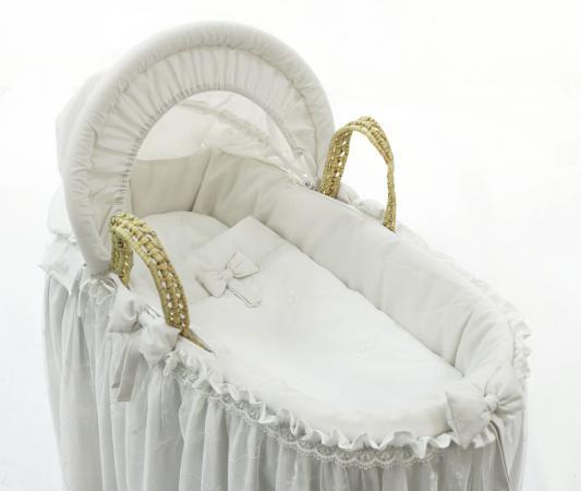 Корзина плетеная с капюшоном Fiorellino Premium Baby (белый) колыбели fiorellino корзина плетёная с капюшоном premium baby