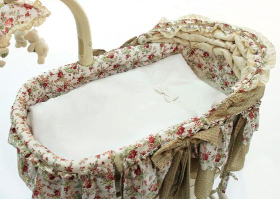 Комплект для электронной колыбели Fiorellino Premium Baby (белый) колыбели fiorellino корзина плетёная с капюшоном premium baby