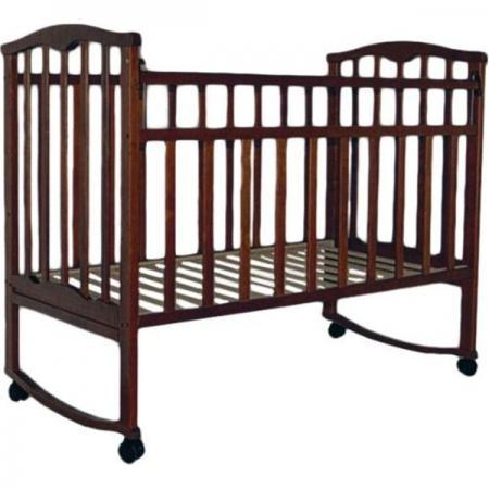 Кроватка-качалка Золушка-1 (шоколад) обычная кроватка агат 52102 золушка 2 шоколад