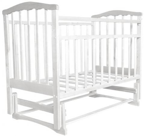 Кроватка с маятником Агат Золушка-3 (белый)