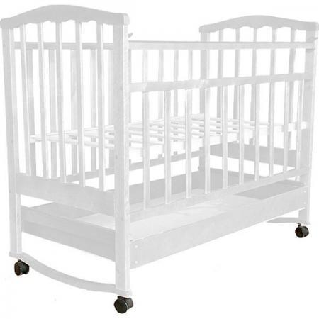 Кроватка-качалка Агат -2 (белый)