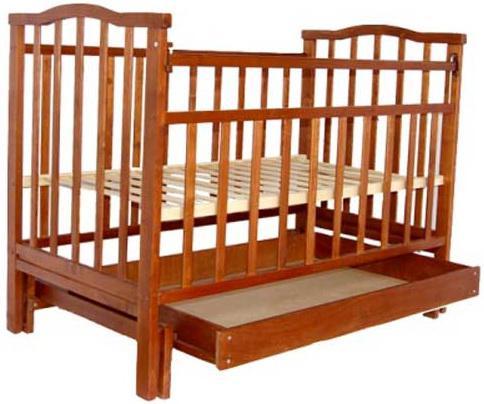 Кроватка с маятником Агат Золушка-4 (вишня)