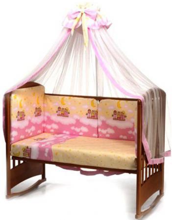 Постельный сет 4 предмета Перина Аманда Ночка (розовый) постельный сет 7 предметов перина венеция три друга белый